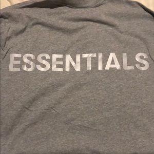 essentials fog gray long sleeve t-shirt